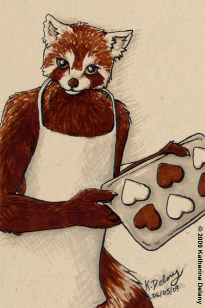 Red Panda with cookies