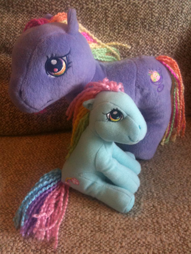 Two plush My Little Ponies